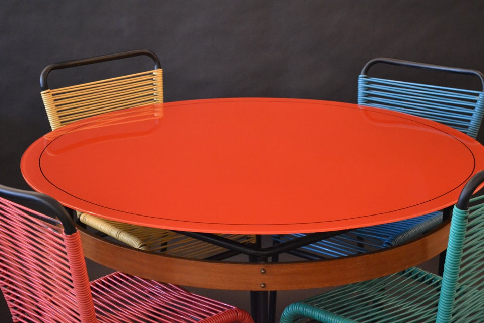 Playful modern cafe table and chairs set at 1stdibs