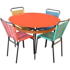 Playful Modern Cafe Table and Chairs Set
