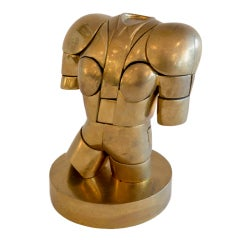 Whimsical PuzzleTorso Sculpture  by Berrocal