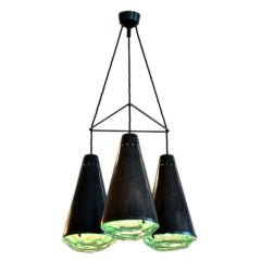 Triple Pendant Light After a Model by Fontana Arte