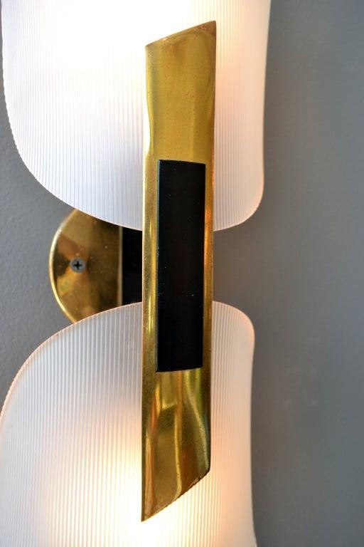 Elegant Pair of Wall Sconces by Stilnovo at 1stdibs