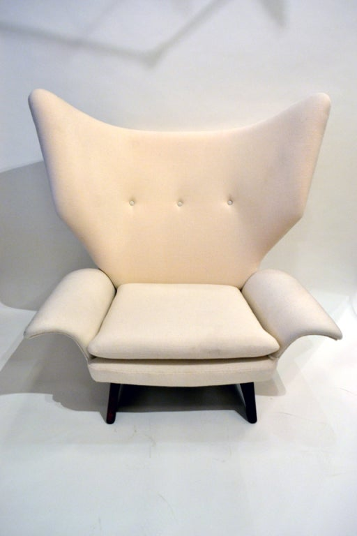 This Unique Chair And Ottoman Was Given As A Gift By The Director Of Illums  Bolighaus