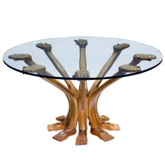 Surrealist Eight Hands and Feet Table by Pedro Friedeberg