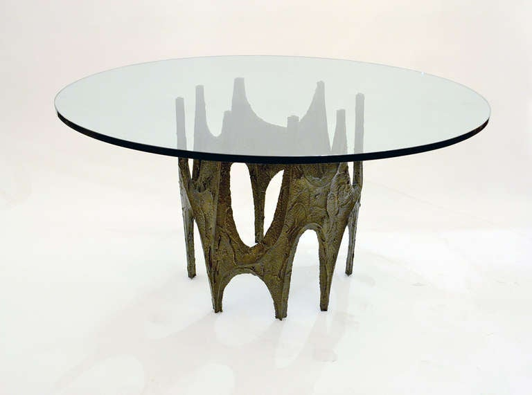 Sculptural Dining Table By Paul Evans At 1stdibs