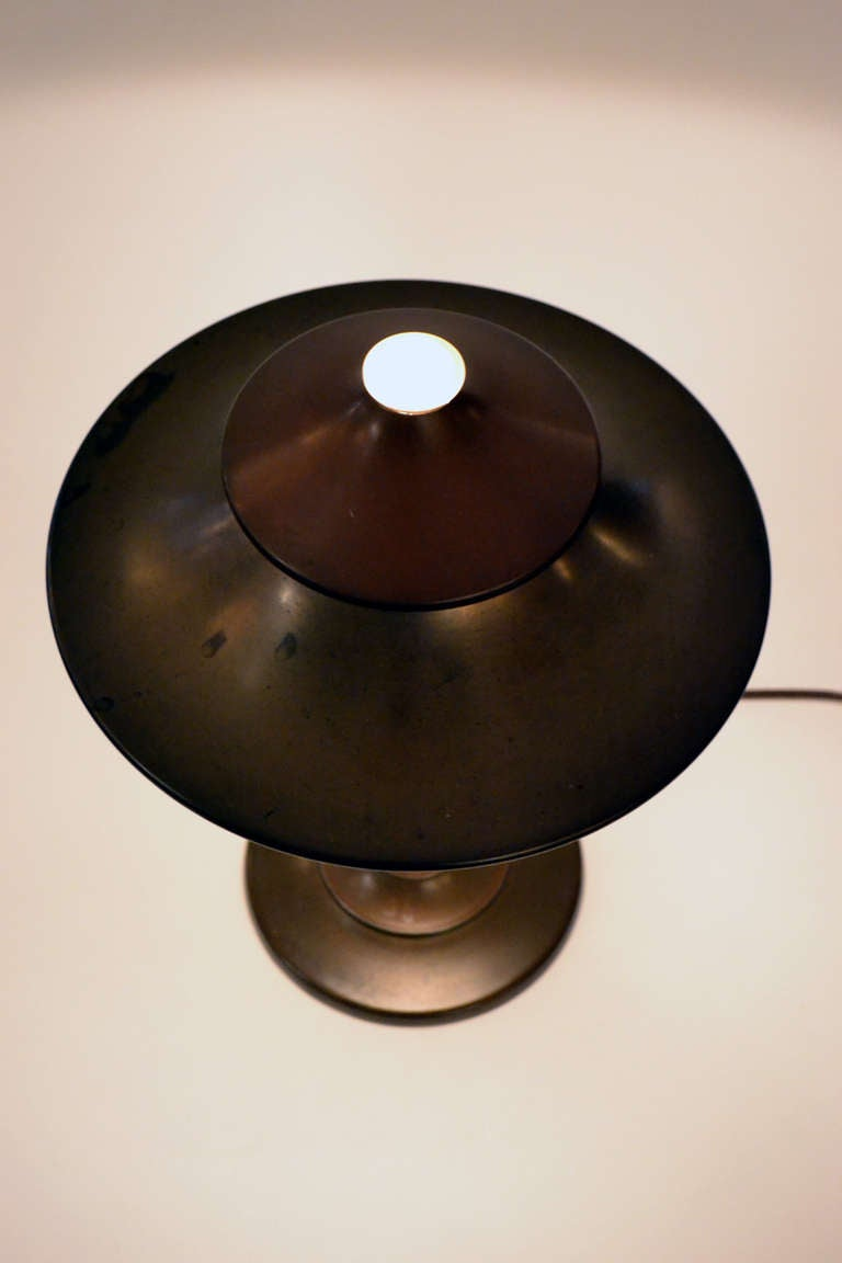 Marvelous Machine Age Table Lamp By Kem Weber At 1stdibs