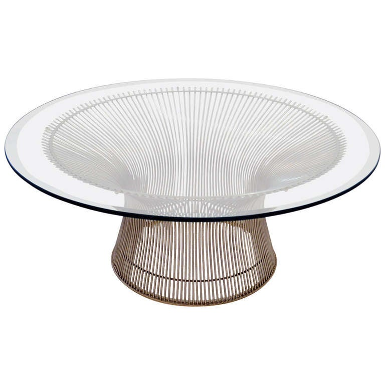 this sculptural coffee table by warren platner is no longer available