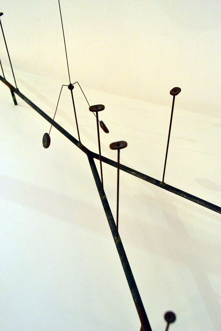 Mid-20th Century Harry Bertoia Kinetic Steel Wire Form Sculpture,  USA 1950s For Sale