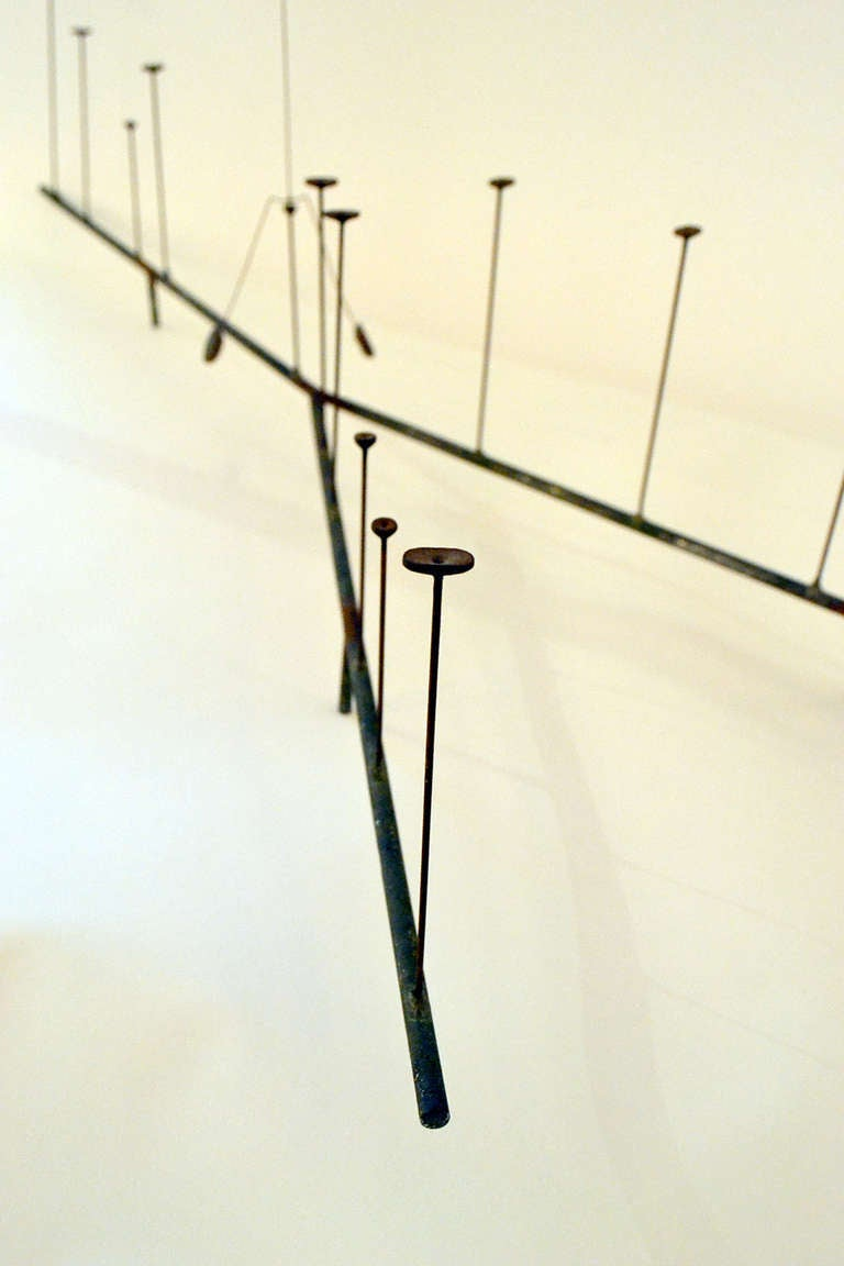 Harry Bertoia Kinetic Steel Wire Form Sculpture,  USA 1950s In Excellent Condition For Sale In New York, NY
