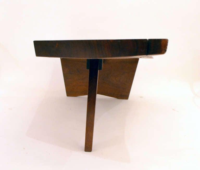 Free Edge Walnut Coffee Table By George Nakashima At 1stdibs