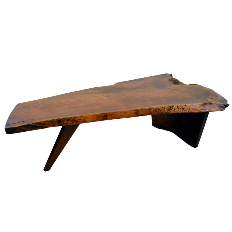 Free Edge Walnut Coffee Table By George Nakashima At 1stdibs