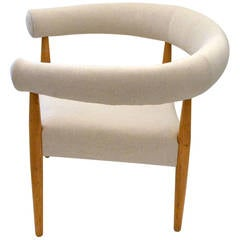 Exceptional Ring Chair in the Style of Nanna Ditzel