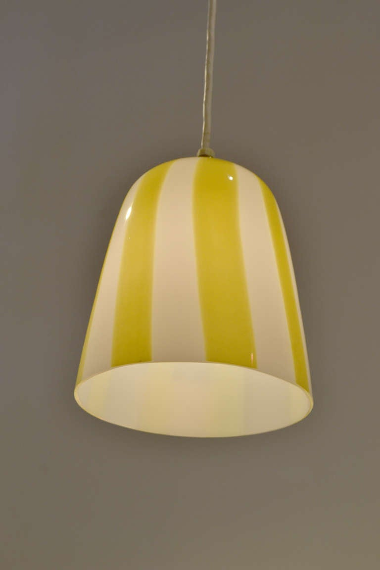 Mid-Century Modern Venini Pendant Attributed to Massimo Vignelli, Italy 1960s For Sale