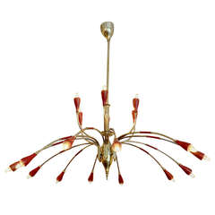 Elegant Eighteen-Arm Italian Chandelier