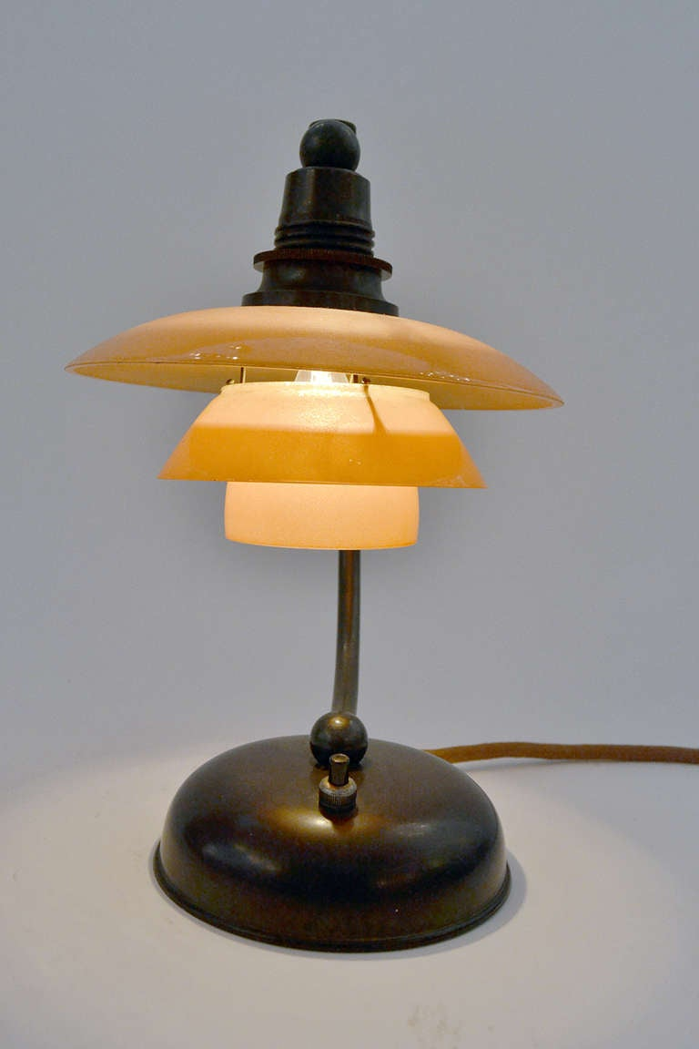 Petite Poul Henningsen Bedside Table Lamp In Excellent Condition For Sale In New York, NY