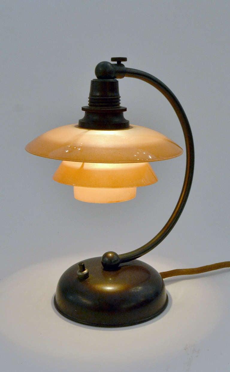 Danish Petite Poul Henningsen Bedside Table Lamp For Sale