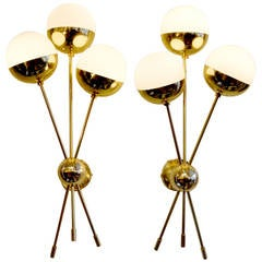 Mid-Century Style Sputnik Sconces in the Manner of Stilnovo, Italy, 2013