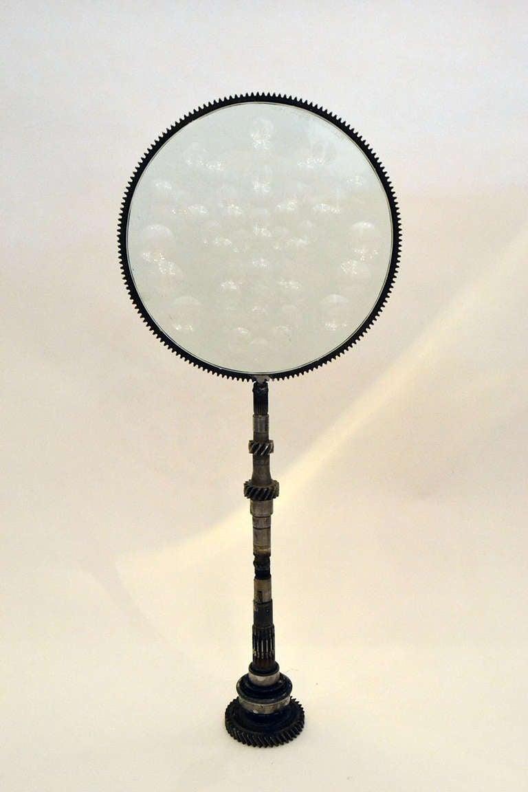Feliciano Béjar Glass and Steel Magicscope Sculpture, Mexico, 1981 2