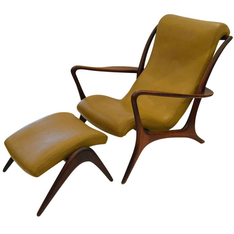 Outstanding And Stylish Lounge Chair And Ottoman By