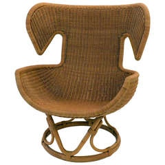 Rattan Lounge Chair by Salvatore Fiume, Italy, 1970s