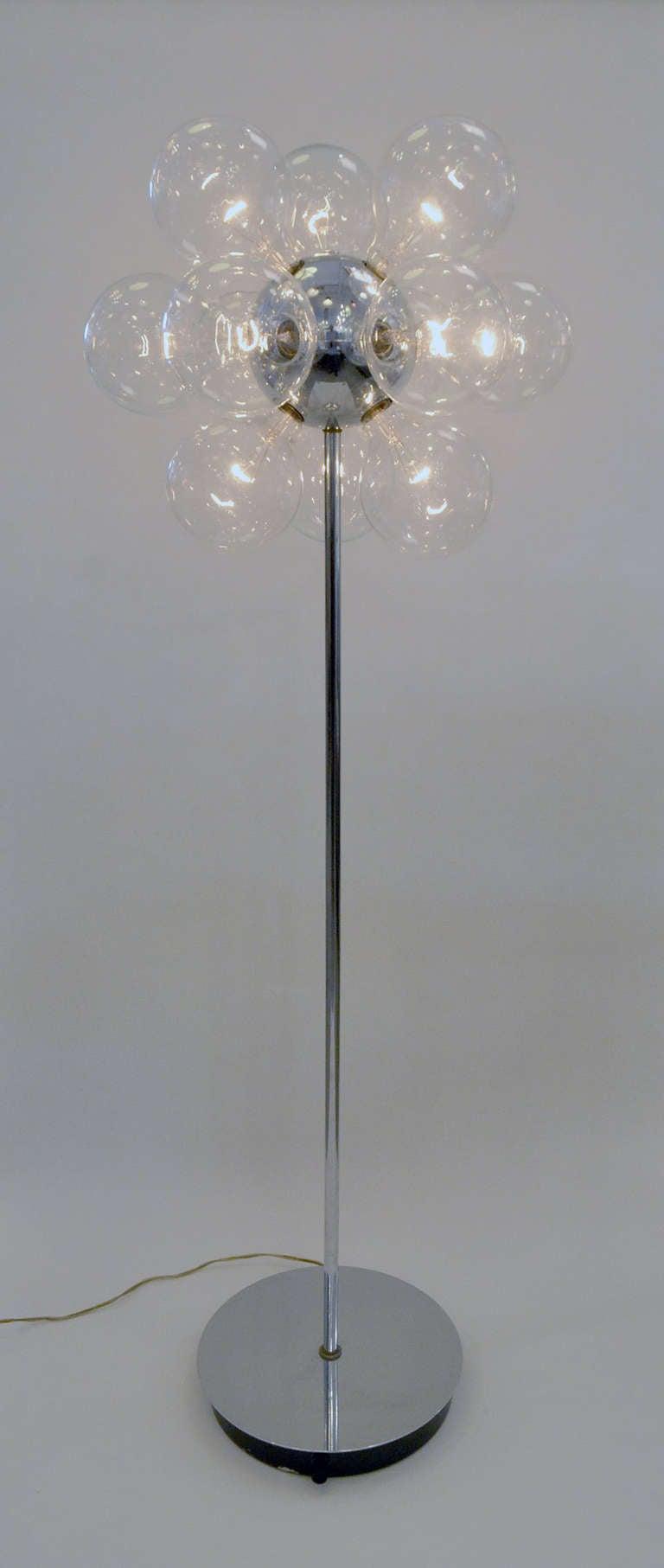 retro modern sputnik floor lamp for sale at 1stdibs. Black Bedroom Furniture Sets. Home Design Ideas