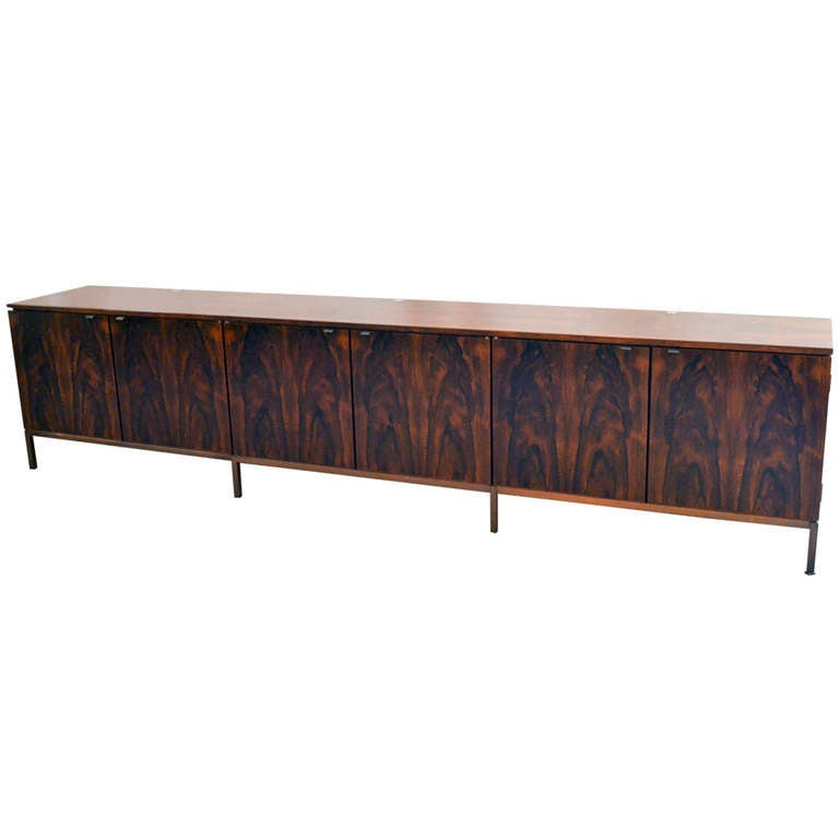 Spectacular Nine Foot Long Rosewood Knoll Credenza 1