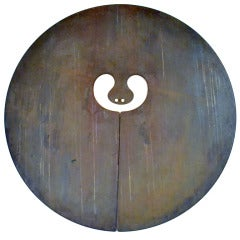 A Bronze Split Gong by Harry Bertoia