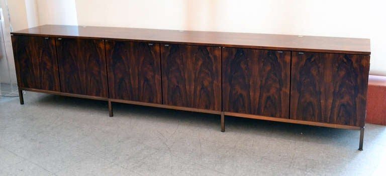 Spectacular Nine Foot Long Rosewood Knoll Credenza 2