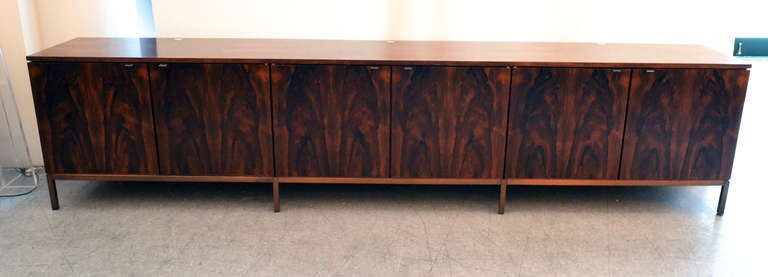 Spectacular Nine Foot Long Rosewood Knoll Credenza 3