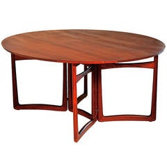 Drop-Leaf Dining Table by Peter Hvidt & Orla Molgaard-Nielsen