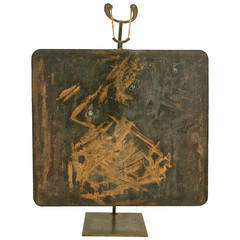 Rare Hollow Copper Gong by Harry Bertoia