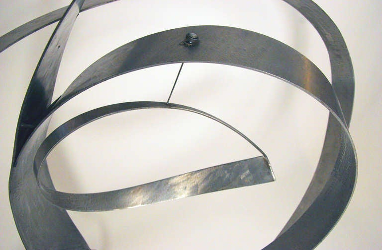 American Beverly Pepper Abstract Stainless Steel Sculpture, USA 1970s For Sale