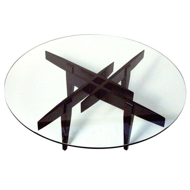 Geometric coffee table by gio ponti at 1stdibs for Geometric coffee table