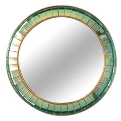 Limited Edition Hand-Cut Crystal Glass Mirror by Ghiro Studios, Italy