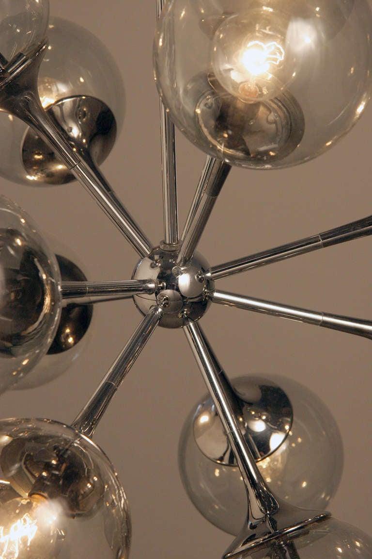 Vintage chrome sputnik chandelier at 1stdibs for Sputnik chandelier