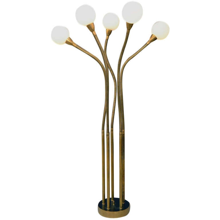 Multi Globe Articulating Floor Lamp by Reggiani, Italy, 1970s For Sale