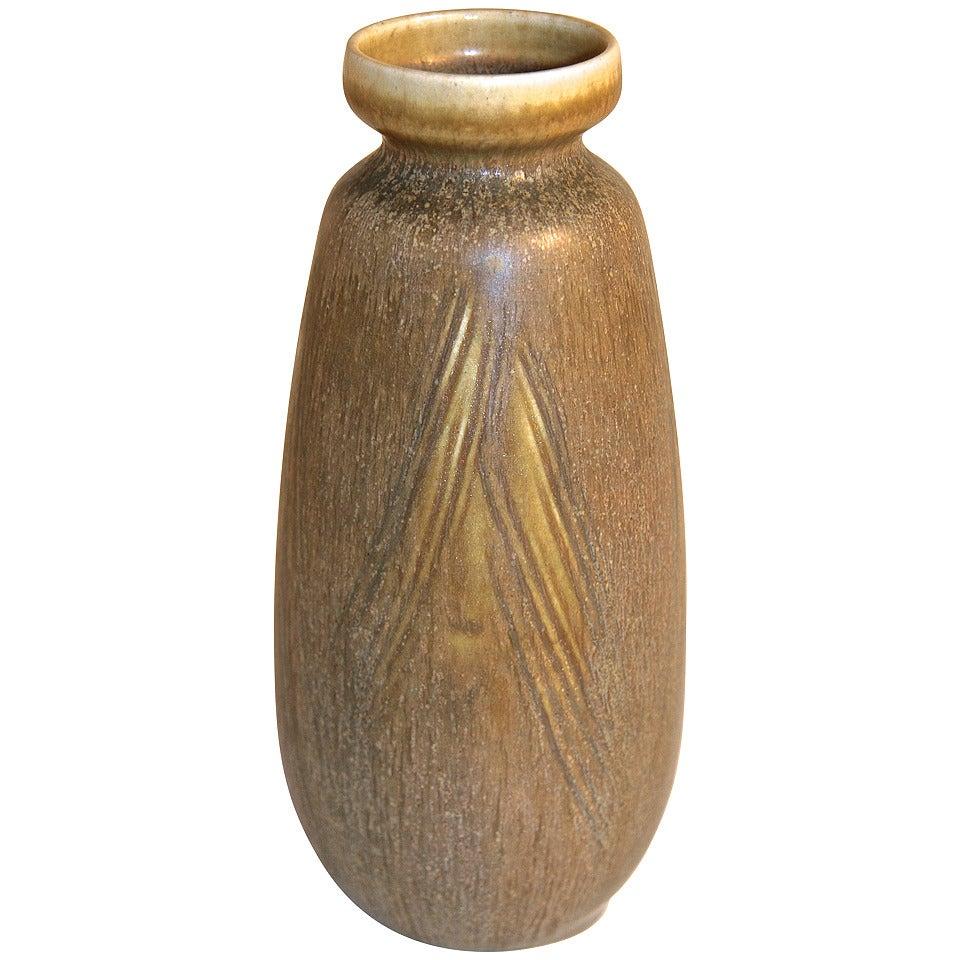 Stoneware Vase by Eva Staehr Nielsen for Saxbo, Denmark, 1950s