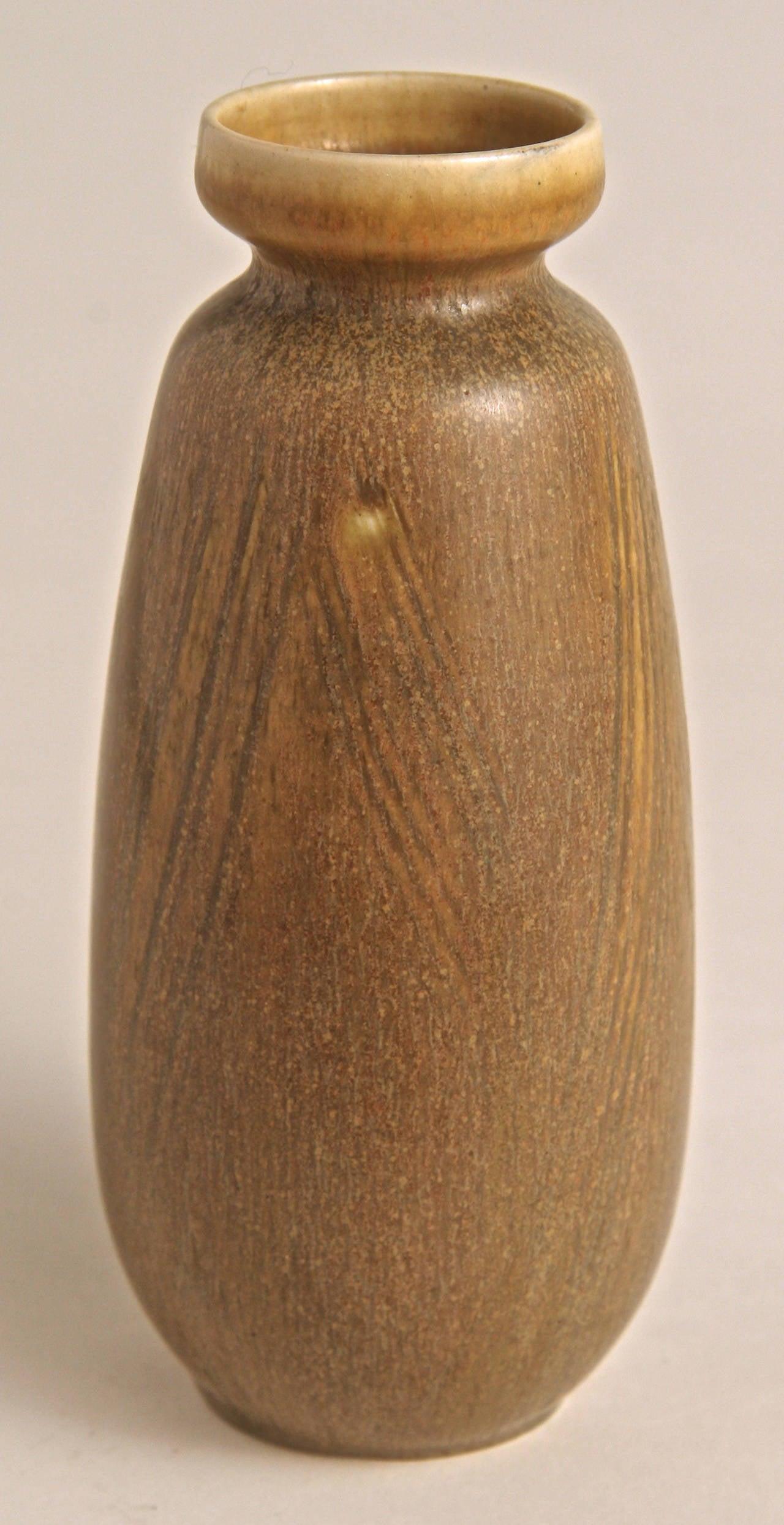 Scandinavian Modern Stoneware Vase by Eva Staehr Nielsen for Saxbo, Denmark, 1950s For Sale