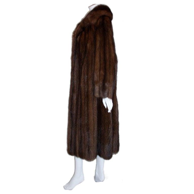 Revillon Sable Fur Coat for Saks Fifth Avenue