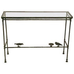 Patinated Bronze Console Table by Christopher Chodoff