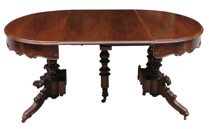 German 1840 39 S Oval Dining Extension Table With 3 Leaves At