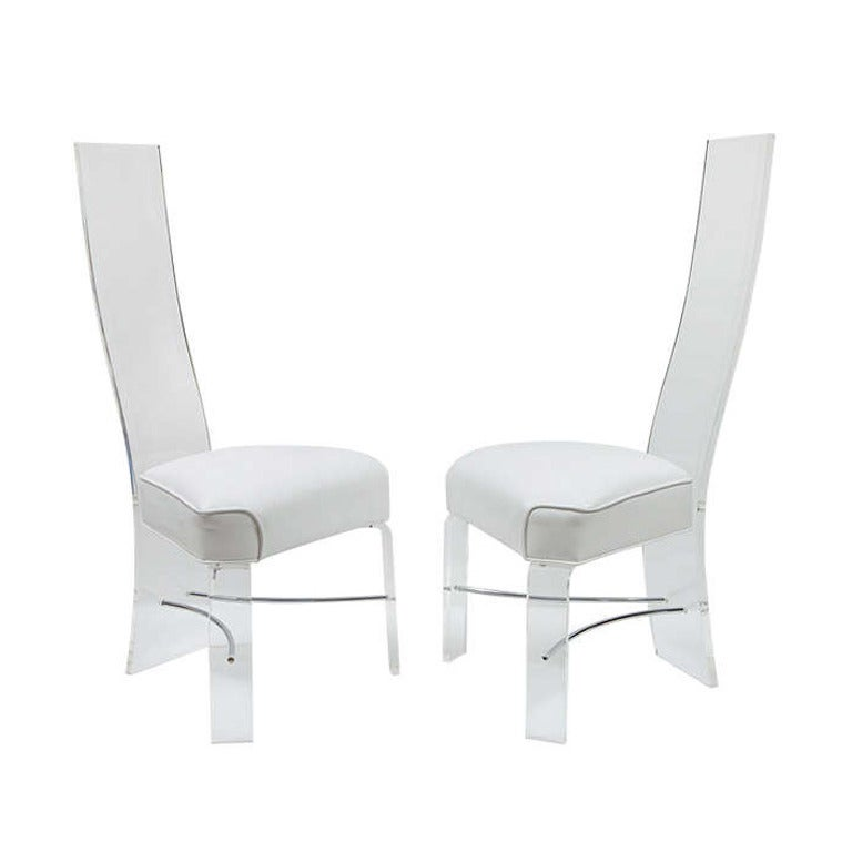 Two Lucite Dining Room Chairs at 1stdibs