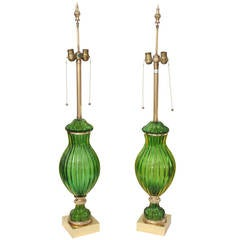 Table Lamps, Murano, Pair