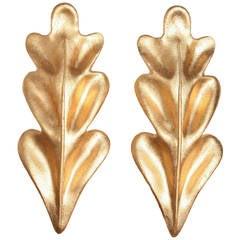 Pair of Gold Leaf Sconces