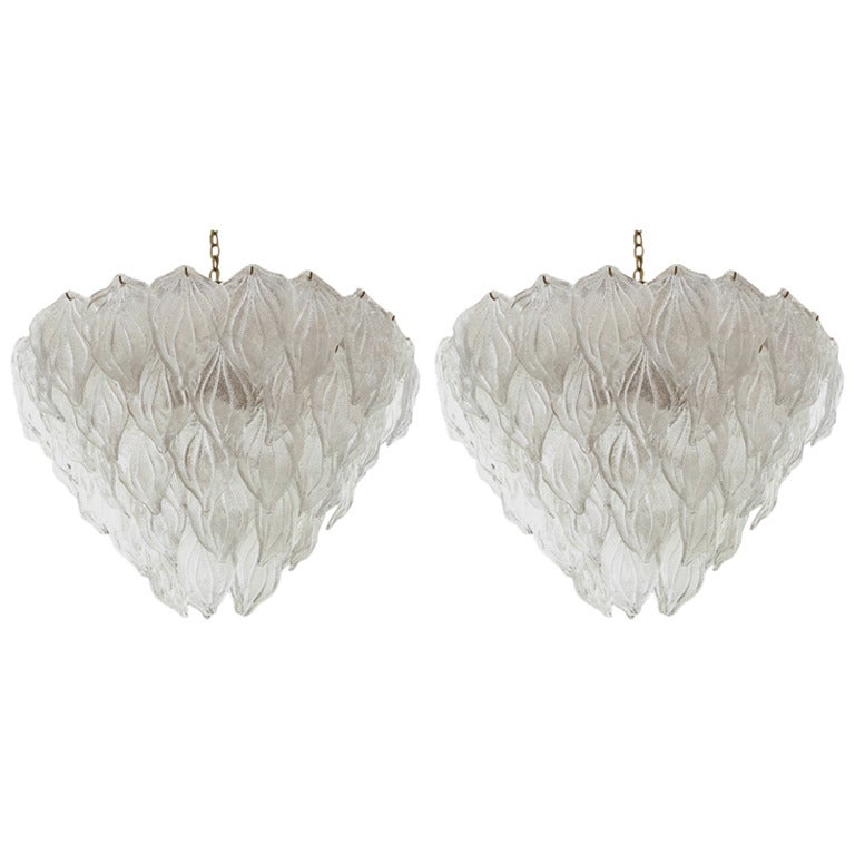 Pair of Murano Glass Chandeliers 1