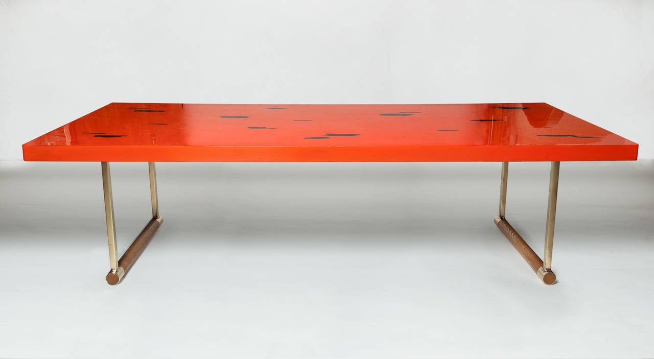 Japanese lacquered 1950s coffee table at 1stdibs for Lacquer coffee table