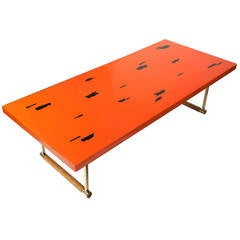 Japanese Lacquered 1950s Coffee Table