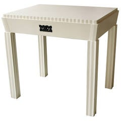 Josef Hoffmann Attributed Vienna Secession White Lacquered Desk, circa 1910