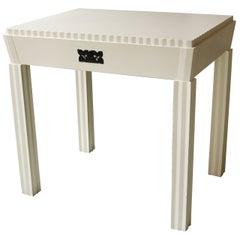 Josef Hoffmann Attributed Vienna Secession White Lacquered Desk, circa 1910