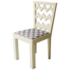 Josef Hoffmann Attributed Vienna Secession White Lacquered Chair, circa 1910