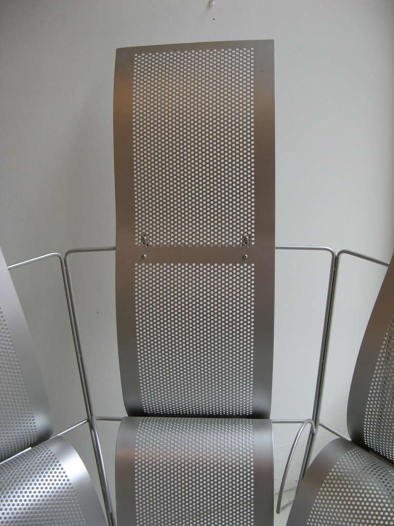 20th Century Teruaki Ohashi Oversized Perforated Aluminum Chair For Sale
